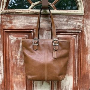 Coach   2005 Legacy Leather Lunch Tote British Tan